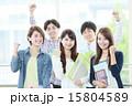 ガッツポーズ 大学生 大学生・専門学生の写真 15804589
