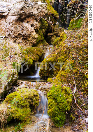 Mountains stream with moss stones 15809046
