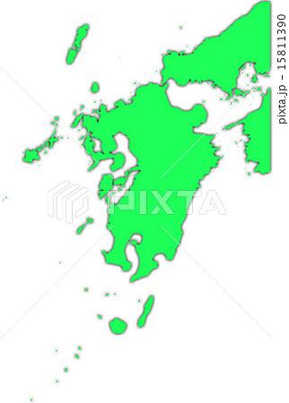 九州地図 15811390