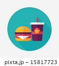 hamburger and soda flat icon with long shadow,eps10 15817723
