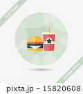 hamburger and soda flat icon with long shadow,eps10 15820608