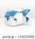 立体 地図 アイコンのイラスト 15825068