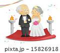 結婚 老人 シニアのイラスト 15826918