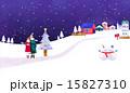 ゆき スノー 雪のイラスト 15827310