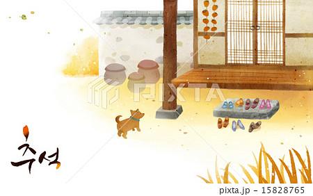 [PAI091] Korean Thanks giving day_background_006のイラスト素材 [15828765] - PIXTA