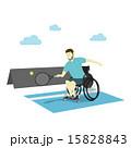 身体障害者 くるまいす 車いすのイラスト 15828843