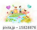 子供 女の人 女性のイラスト 15828876