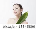 葉っぱ アジア人 アジアンの写真 15846800