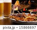 生ビール 発泡酒 焼き鳥の写真 15866697