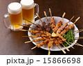 生ビール 発泡酒 焼き鳥の写真 15866698