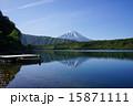 5月風景・富士山776新緑の西湖とボート 15871111