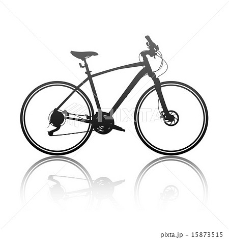 Silhouette of a hybrid bike 15873515