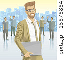Vector businessman and silhouettes 15878884