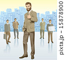 Vector businessman and silhouettes 15878900