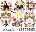 年賀状素材 年賀状用 申年のイラスト 15879363