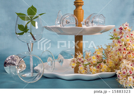 cutlery, chestnut twig. closeupの写真素材 [15883323] - PIXTA