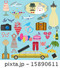 ウエディング ベクター 組み合わせのイラスト 15890611