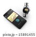 スマートフォンとスマートウォッチにて野ネットショッピングコンセプト 15891455