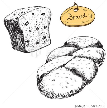 Bread. Vector hand drawn illustrations setのイラスト素材 [15893432] - PIXTA