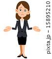 呆れるビジネスパーソン(女性) 15895210