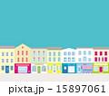 ショップ 街並み 商店街のイラスト 15897061