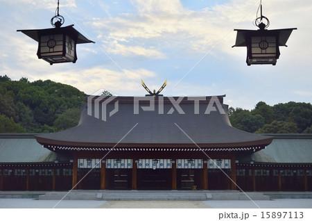 橿原神宮 内拝殿の写真素材 [158...