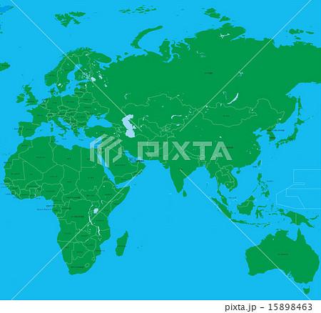 世界地図国名入りのイラスト素材 15898463 Pixta