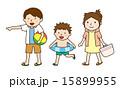 海水浴 夏休み ベクターのイラスト 15899955