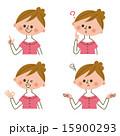 女性 表情 15900293