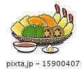 天ぷら 揚げ物 料理のイラスト 15900407