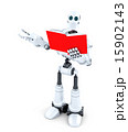 Robot with book. Isolated. 15902143