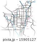 市街地図 道路地図 ベクターのイラスト 15905127
