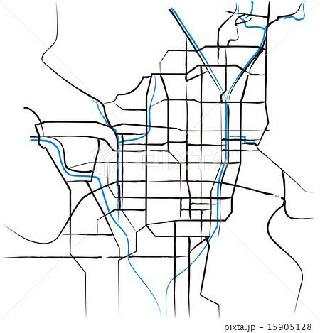 京都の略地図_墨 広域 15905128