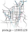 マップ 市街地図 道路地図のイラスト 15905129