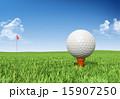 Golf ball on tee 15907250