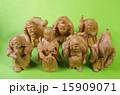 木彫り 木製 七福神の写真 15909071