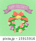 クリスマス リース リボンのイラスト 15915916