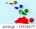 ハワイ諸島_色分け図 15918377