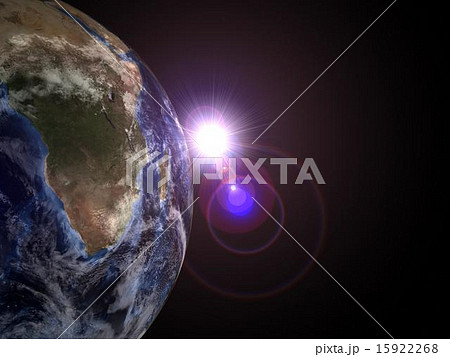 地球から太陽出現、レンズフレア発生 15922268