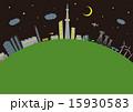 ベクター 建築 夜のイラスト 15930583