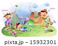 球技 ベースボール 白球のイラスト 15932301