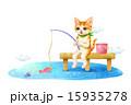 動物 釣り フィッシングのイラスト 15935278