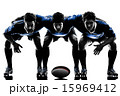 rugby men players silhouette 15969412