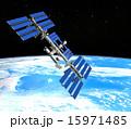 宇宙ステーションと地球 perming3DCG 15971485