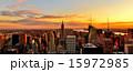 ビル群 夕焼け 夕暮れの写真 15972985
