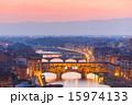 ベッキオ橋 ポンテベッキオ ポンテ・ヴェッキの写真 15974133