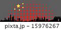 China abstract flag Skyline 15976267