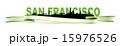 San Francisco Skyline green banner 15976526