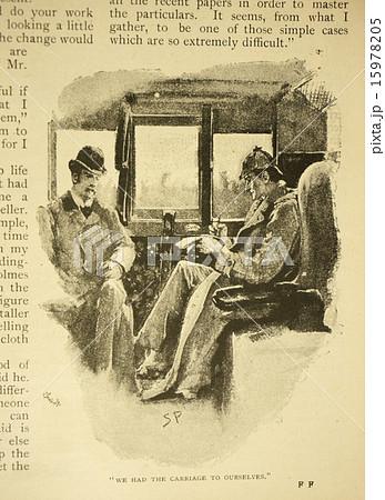 アンティークイラストシャーロックホームズのイラスト素材