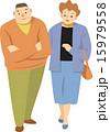 夫婦 中高年 ベクターのイラスト 15979558